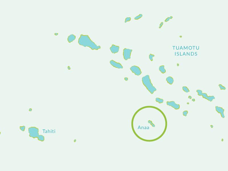 Anaa Atoll Island map
